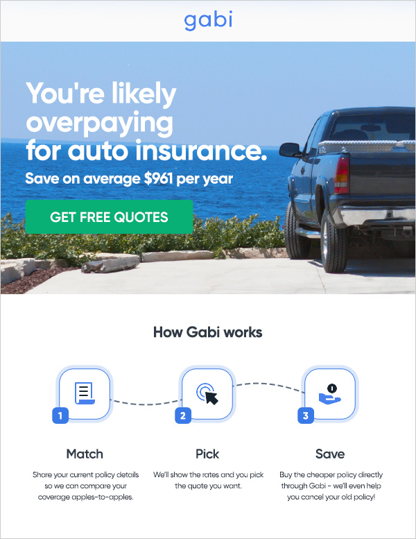 You're likely overpaying for auto insurance. Save an average $825 per year.